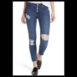 Free people reagan distressed button front jeans